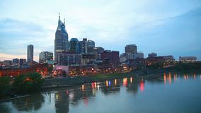 Downtown Nashville in the evening Stock Photography
