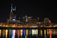 Downtown Nashville at Night Royalty Free Stock Photo
