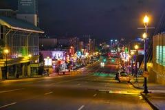 Downtown Nashville at night Stock Photos
