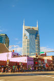 Downtown Nashville with people Royalty Free Stock Photos