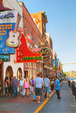 Downtown Nashville with people Royalty Free Stock Photography