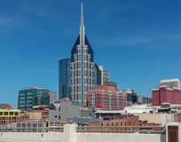 Downtown Nashville Tennessee Buildings Skyline Stock Photos