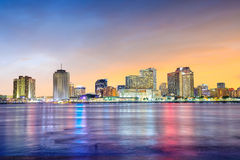 Downtown New Orleans, Louisiana and the Mississippi River Royalty Free Stock Images