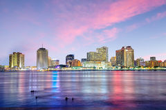 Downtown New Orleans, Louisiana and the Mississippi River Stock Photography
