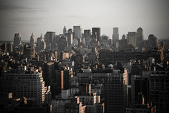 Downtown New York City. The view of Downtown New York City Royalty Free Stock Images