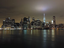 Downtown New York City at Night Stock Photography