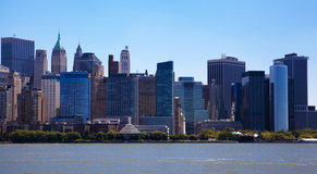 Downtown New York City Skyline Stock Images