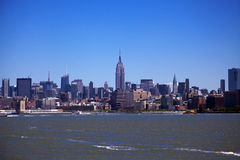 Downtown New York City Skyline Stock Photography