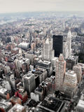 Downtown New York City Urban Aerial Stock Photography