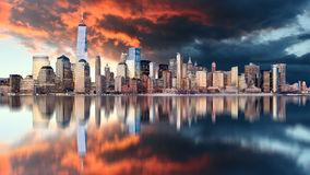 Downtown of New York City, USA Royalty Free Stock Photography
