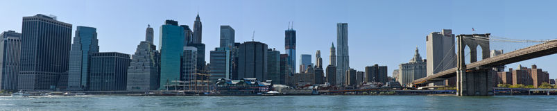 Downtown New York Skyline stock photography