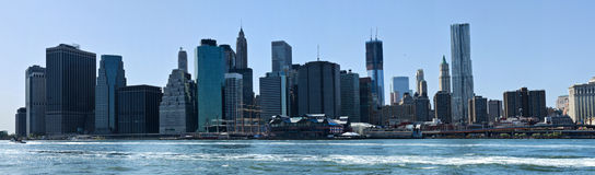 Downtown New York Skyline royalty free stock photo