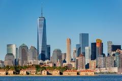 Downtown New York skyline royalty free stock photo