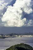 Downtown of Niteroi before storm stock photo