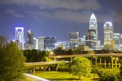 Downtown of North Carolina skyline Stock Image