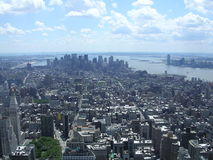 Downtown , NYC. A View Downtown from The Empire State Building. Brooklyn, New Jersey and beyond royalty free stock image