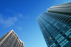 Downtown, office buildings royalty free stock photo