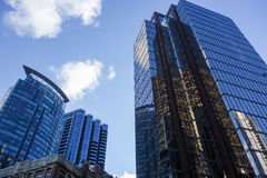 Downtown Office Buildings Royalty Free Stock Photo