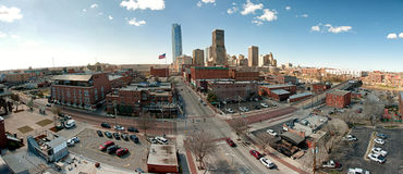Downtown Oklahoma City Panorama Royalty Free Stock Photo