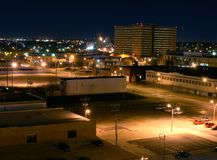 Downtown Oklahoma County Jail in Distance Stock Photography
