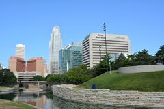 Downtown Omaha Nebraska Skyline Stock Image