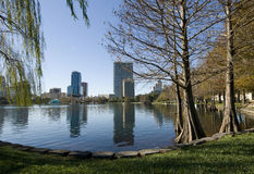 Downtown Orlando. At Lake Eola Park in Florida Stock Photo