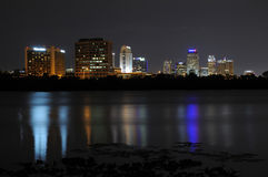 Downtown Orlando At Night Royalty Free Stock Images