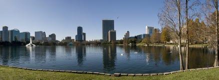 Downtown Orlando, Florida. Downtown Orlando from Lake Eola Park Stock Photo