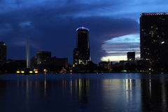 Downtown Orlando, Florida, at Dusk (3) Stock Photo