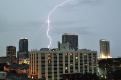 Downtown Orlando Lighning Strike Royalty Free Stock Photos