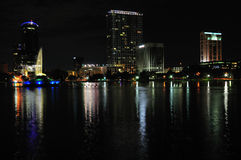 Downtown Orlando at Night Stock Photo