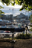 Downtown Oslo. Busy pier in downtown Oslo Royalty Free Stock Photos