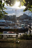 Downtown Oslo. Busy pier in downtown Oslo Royalty Free Stock Image