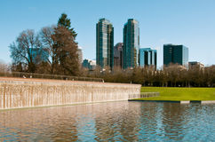 Downtown park of Bellevue Royalty Free Stock Photography