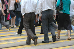 Downtown pedestrians Royalty Free Stock Photos