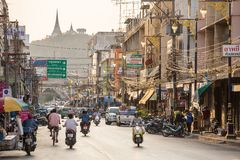 Downtown of Phetchaburi, Thailand Royalty Free Stock Photography