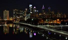 Downtown Philadelphia at Night Royalty Free Stock Photo