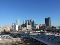 Downtown Philadelphia. The view of downtown Philadelphia, Pennsylvania from the parking garage of Cira Center Royalty Free Stock Photography
