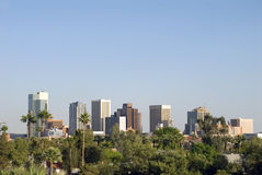 Downtown Phoenix Arizona City Skyline Royalty Free Stock Images