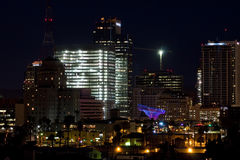 Downtown Phoenix Office Buildings at Night Royalty Free Stock Images