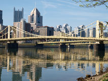 Downtown Pittsburgh. Big bridges in downtown Pittsburgh Pennsylvania Royalty Free Stock Images