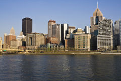 Downtown Pittsburgh accross the river Stock Photo