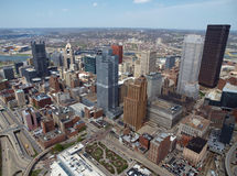 Downtown Pittsburgh Aerial Royalty Free Stock Photos