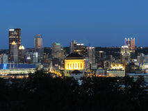 Downtown Pittsburgh at Dusk Stock Image