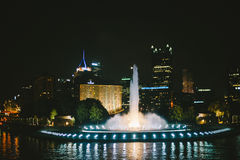 Downtown Pittsburgh Fountain Royalty Free Stock Photography