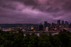 Downtown Pittsburgh, Pennsylvania. A view of downtown Pittsburgh, Pennsylvania at twilight Royalty Free Stock Photo