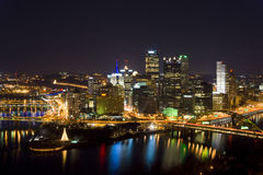 Downtown Pittsburgh Skyline From Mount Washington Royalty Free Stock Photography