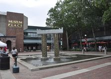 Salem, MA, 1st June: Downtown Plaza from Salem in Essex county Massachusettes state of USA stock image