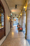 Downtown porch in Bologna Royalty Free Stock Images