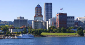 Downtown Portland Oregon panorama. Stock Images